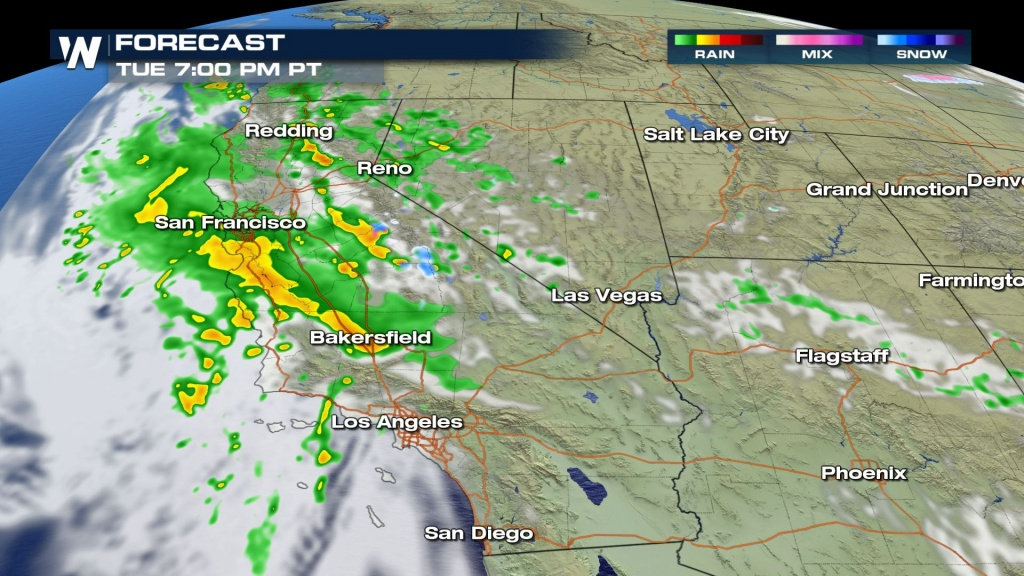 Stormy Weather On The Way To California Tuesday - Weathernation - California Coast Weather Map