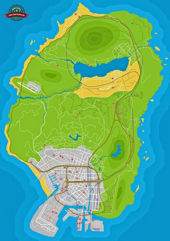 Stunt Jumps - Grand Theft Auto V Game Guide   Gamepressure - Gta 5 Printable Map