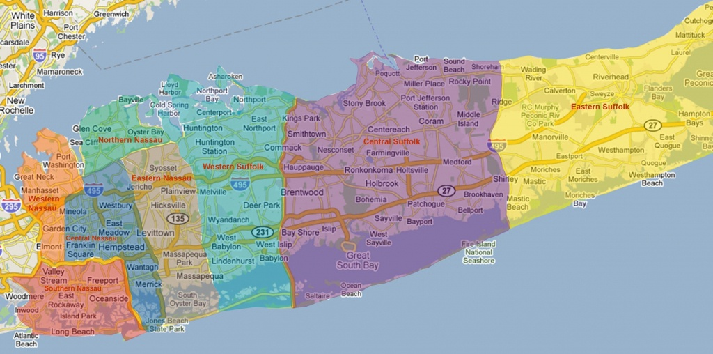 Suffolk County Zip Code Map - Map Of Suffolk County Zip Code (New - Printable Map Of Long Island Ny