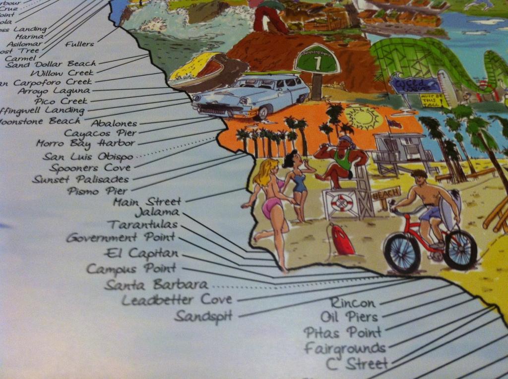 Surf Spot Map - California Surf Map