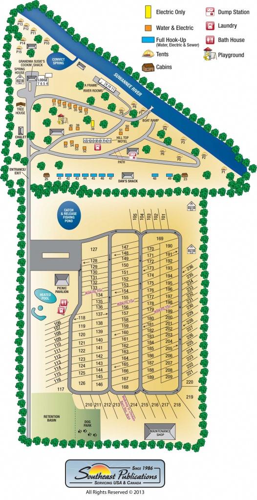 Suwannee River Rendezvous Resort - Florida Rv Camping Map