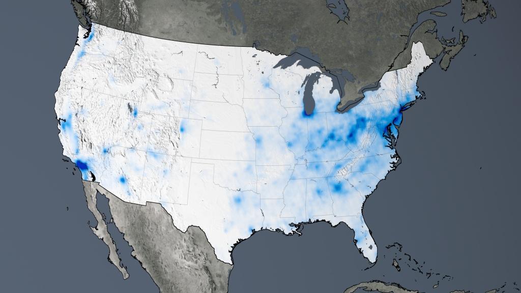Svs: Nasa Images Show Human Fingerprint On Global Air Quality - Texas Air Quality Map