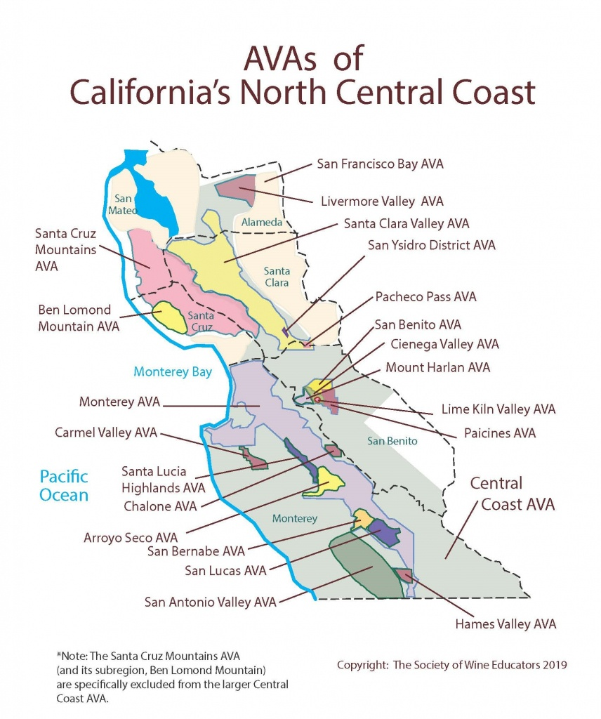 Swe Map 2019: California—Northern Central Coast – Wine, Wit, And Wisdom - Central California Wineries Map