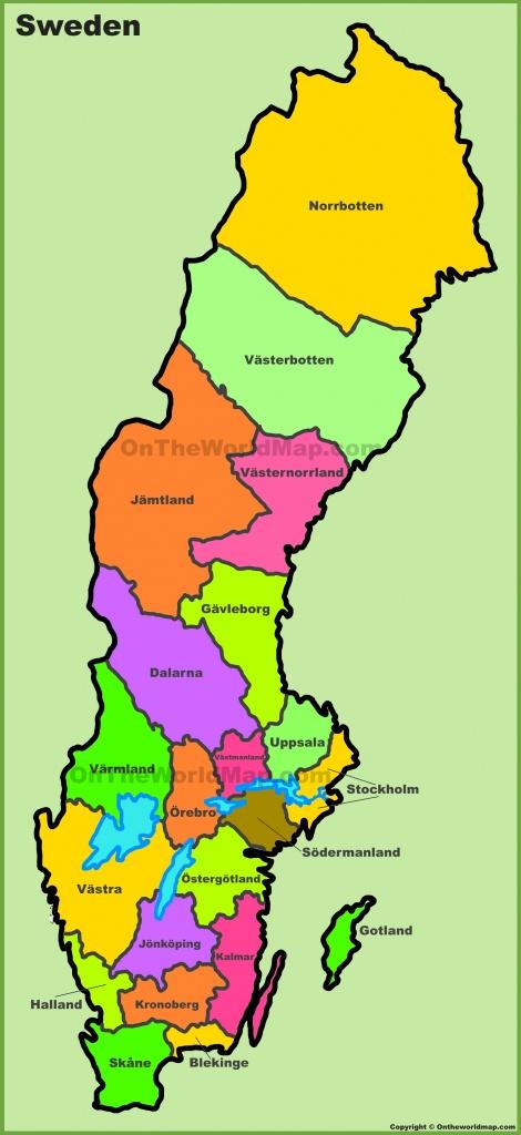 Sweden Maps   Maps Of Sweden - Printable Map Of Sweden