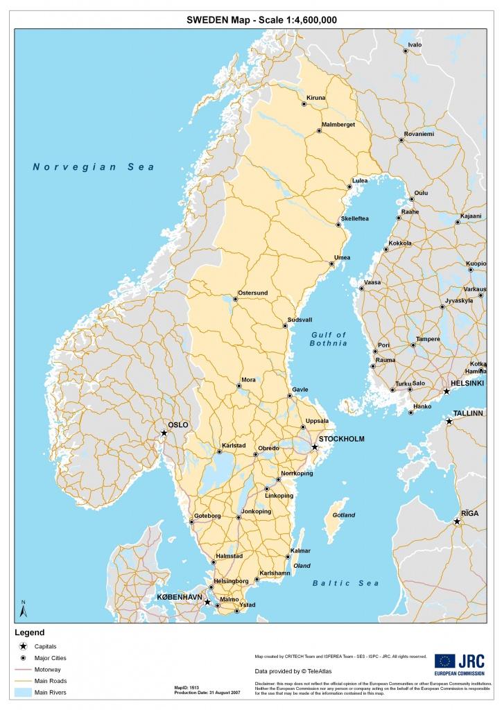 Sweden Maps   Printable Maps Of Sweden For Download - Printable Map Of Sweden