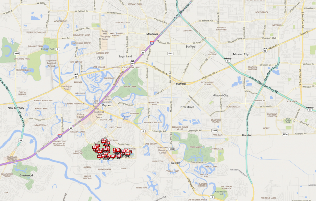 Sweetwater Sugar Land Tx | Sweetwater Homes For Sale - Sugar Land Texas Map