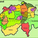 Switzerland Political Map   Printable Map Of Switzerland