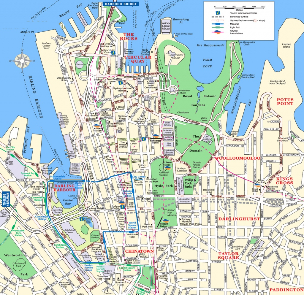Sydney Attractions Map Pdf - Free Printable Tourist Map Sydney - Sydney City Map Printable