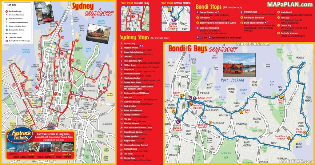 Sydney Maps - Top Tourist Attractions - Free, Printable City Street Map - Printable Travel Map