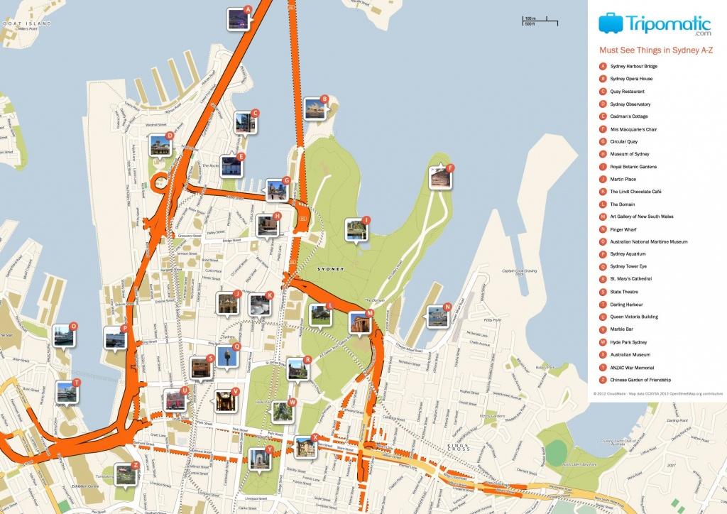 Sydney Printable Tourist Map In 2019 | Free Tourist Maps ✈ | Sydney - Printable Map Of Sydney