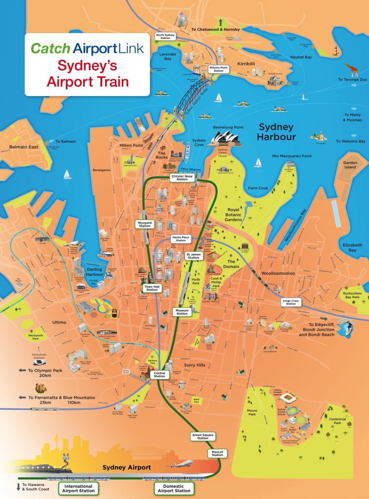 Sydney Tourist Attractions Map - Printable Map Of Sydney