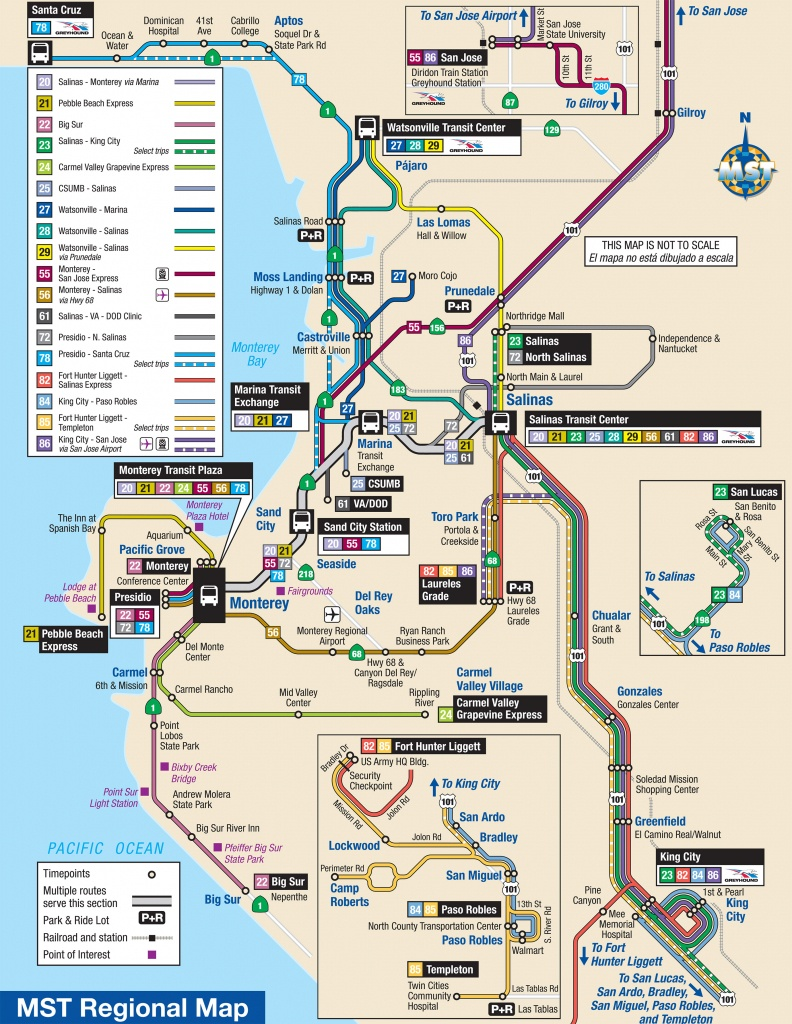 System Maps | Monterey-Salinas Transit - Seaside California Map