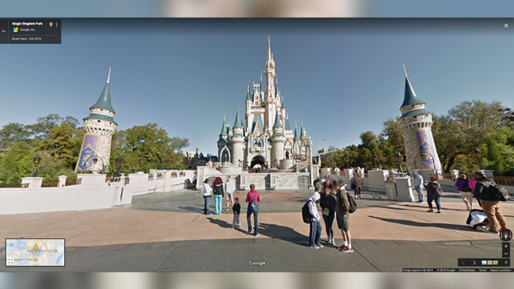 Take A Virtual Walk Through Disney Parks With New 360-Degree - Google Maps Orlando Florida Street View