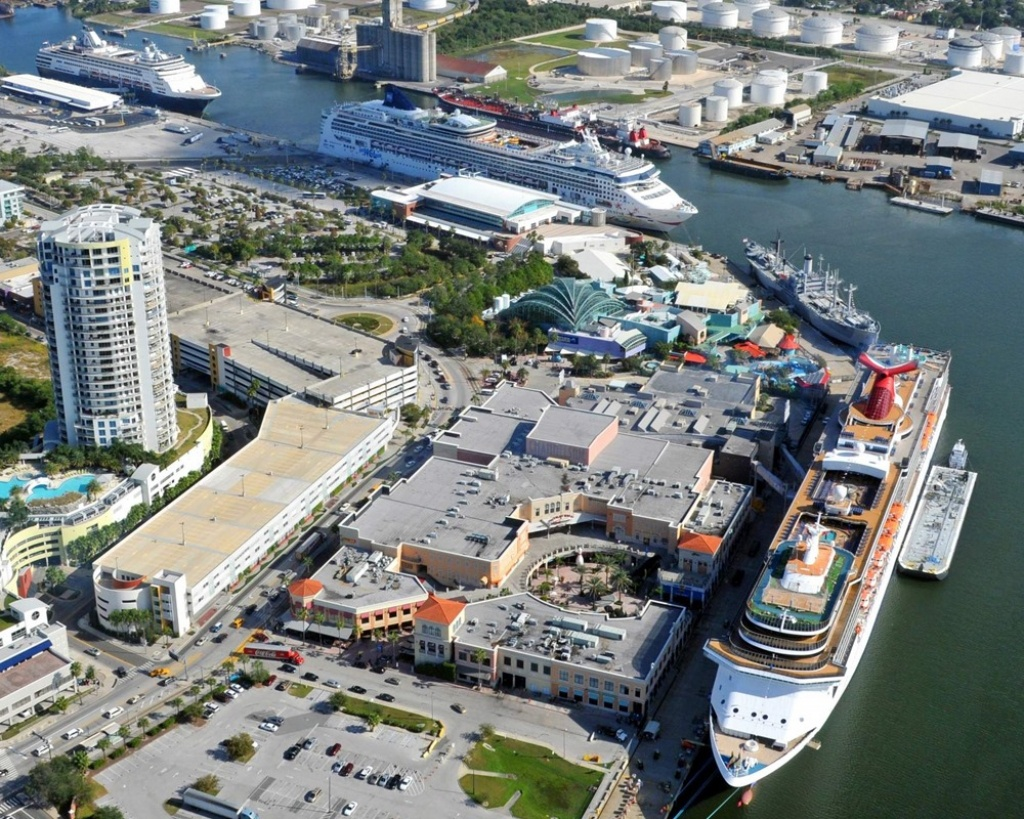Tampa (Florida) Cruise Port Schedule | Cruisemapper - Cruise Terminal Tampa Florida Map