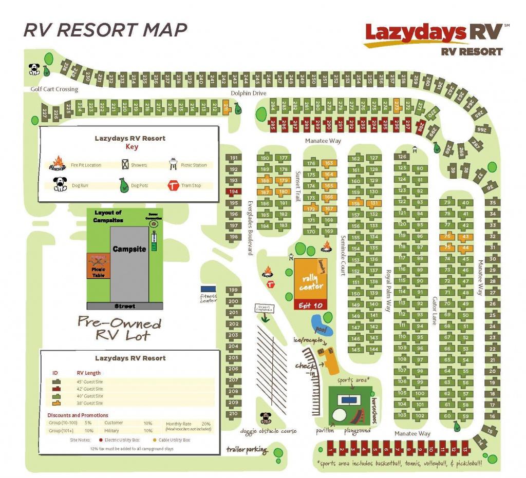 Tampa Rv Resort Map | Lazydays Rv In Tampa, Florida - Florida Resorts Map