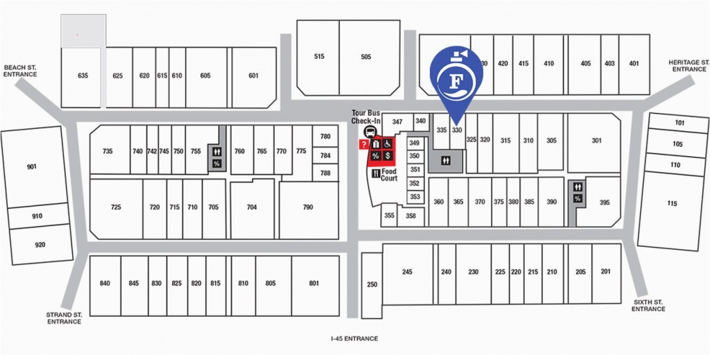 Tanger Outlet Texas City Map | Secretmuseum - Tanger Outlets Texas City Stores Map