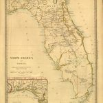Tanner's Map Of Florida From 1833. | Florida Memory | Florida Maps   Old Florida Road Maps