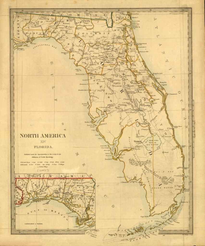 Tanner's Map Of Florida From 1833. | Florida Memory | Florida Maps - Old Florida Road Maps
