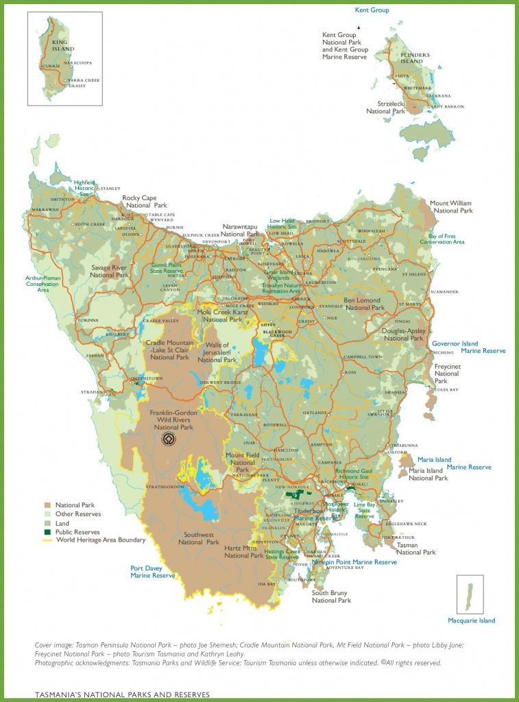 Tasmania Maps   Australia   Maps Of Tasmania (Tas) - Printable Map Of Tasmania