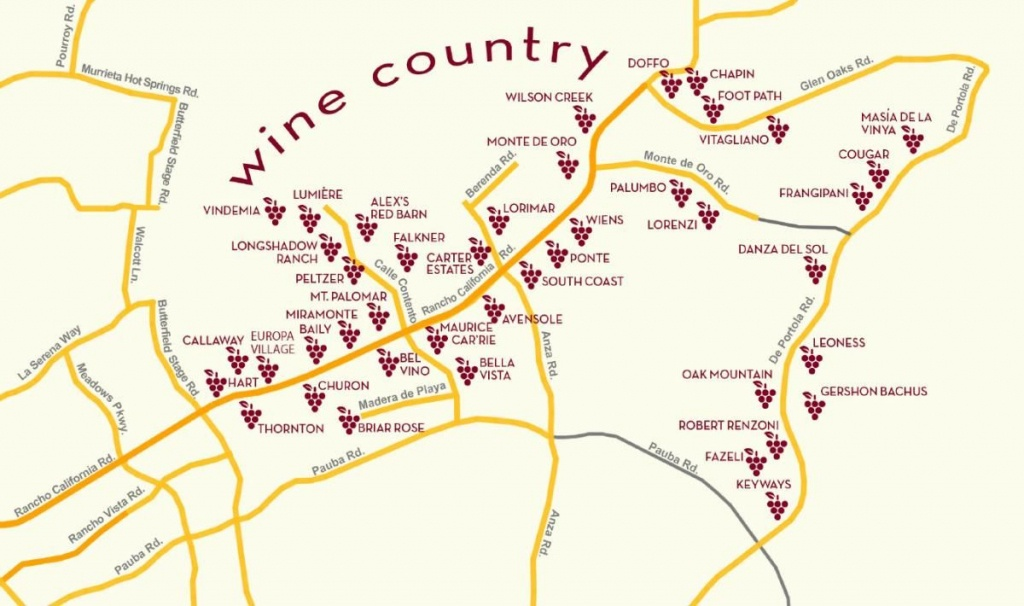 Temecula Wine Country Map   San Diego In 2019   Temecula Wineries - Temecula Winery Map Printable