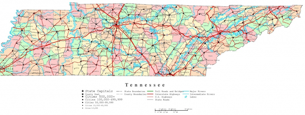 Tennessee Road Atlas | Tennessee Printable Map | Traveling - State Map Of Tennessee Printable