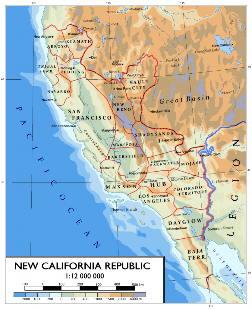 Tes And Fallout : Photo | Fallout | Map, Fallout Props, Fallout New - Map Of The New California Republic
