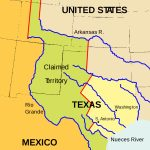 Texas Annexation   Wikipedia   Republic Of Texas Map