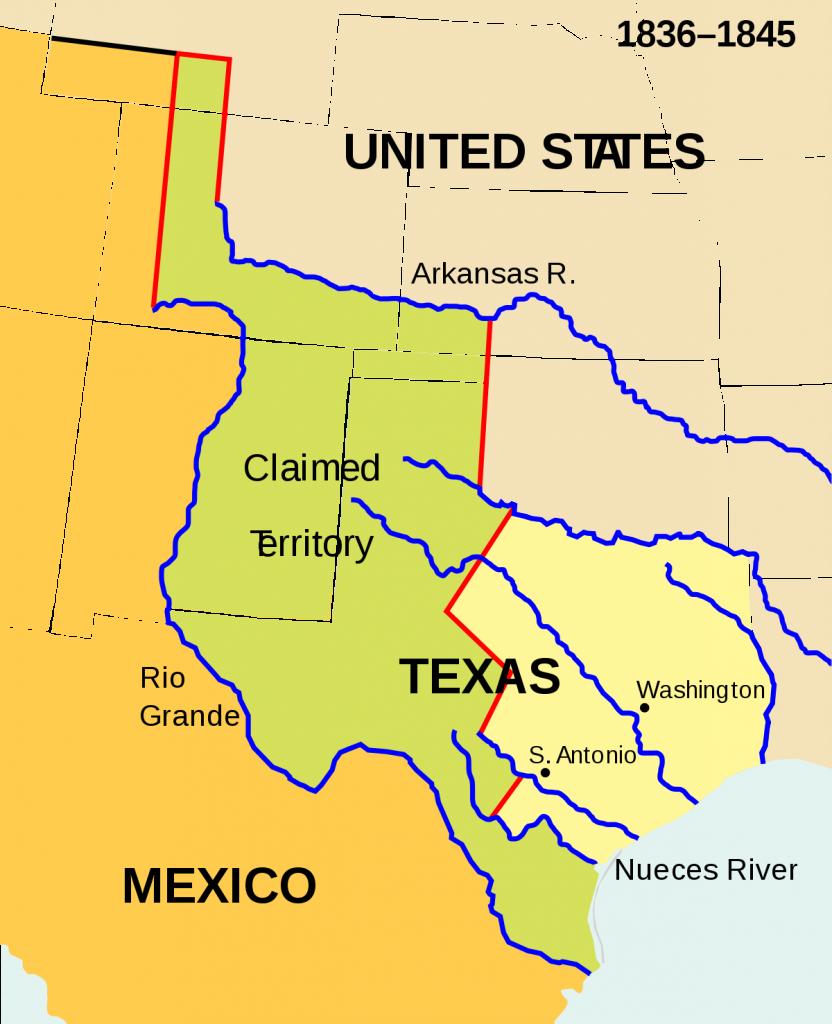 Texas Annexation - Wikipedia - Republic Of Texas Map