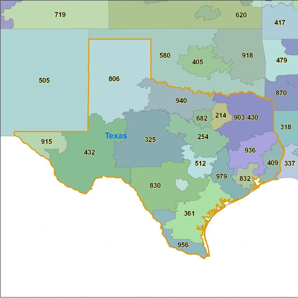 Texas Area Code Maps -Texas Telephone Area Code Maps- Free Texas - Full Map Of Texas