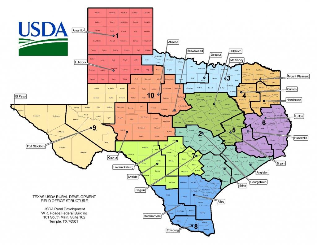 Texas Contacts   Usda Rural Development - Usda Loan Florida Zone Map