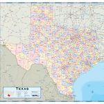 Texas Counties Wall Map   Maps   Texas County Map