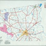 Texas County Highway Maps Browse   Perry Castañeda Map Collection   Crockett Texas Map