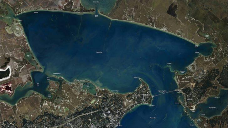 Rockport Texas Fishing Map