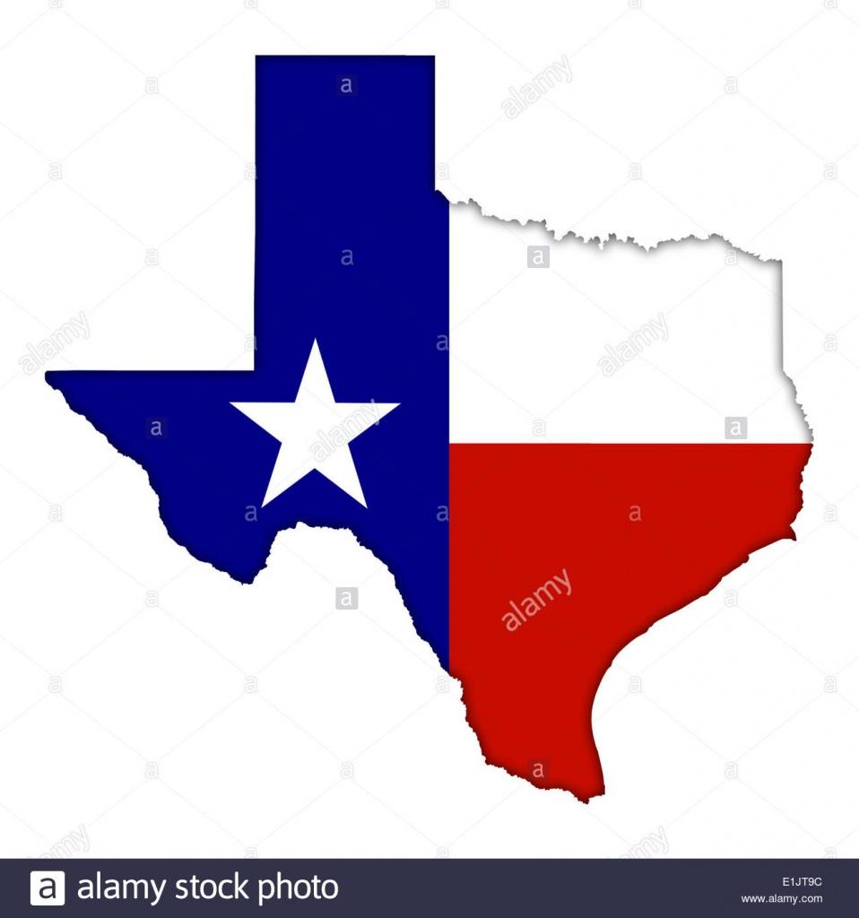 Texas Flag Map Icon Logo Stock Photo: 69870344 - Alamy - Texas Flag Map