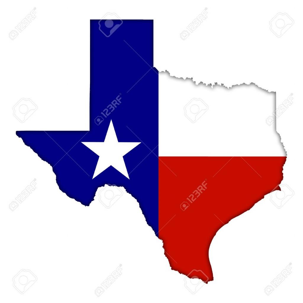 Texas Flag Map Icon - Texas Flag Map
