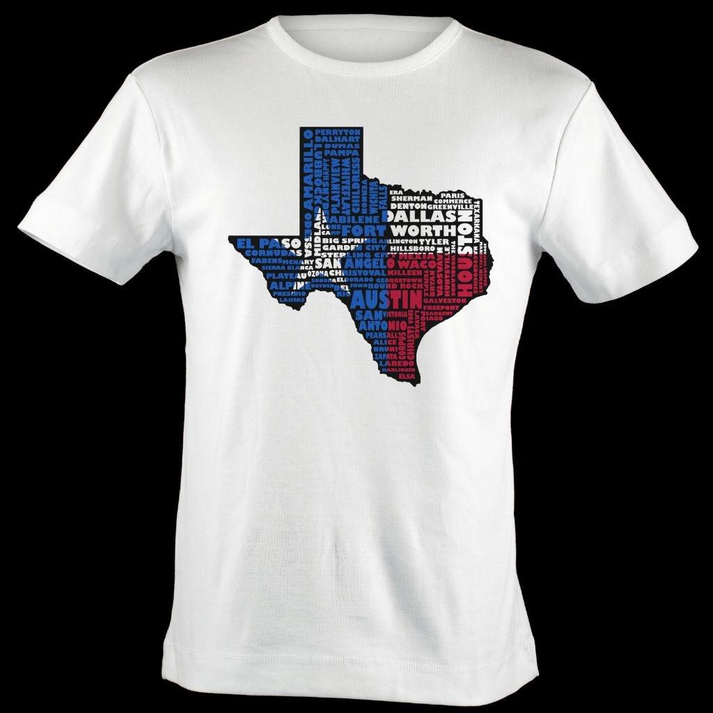 Texas Flag Shirt Map Art   Texas Typography Map T-Shirt - Texas Not Texas Map T Shirt