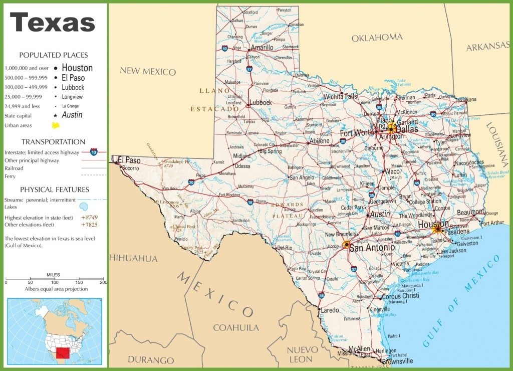 Texas Highway Map - Map Of Texas Highways And Interstates