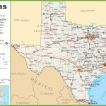 Texas Highway Map   Map Of Texas Roads And Cities