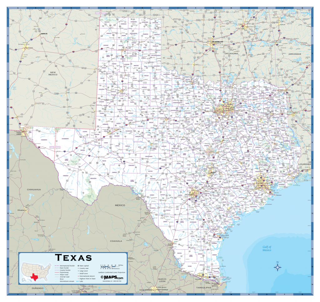 Texas Highway Wall Map - Maps - Giant Texas Wall Map
