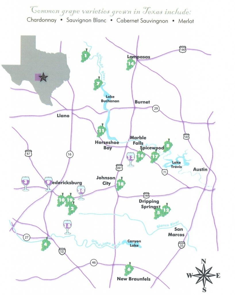 Texas Hill Country Wineries   Book Babes   Texas Hill Country, Texas - Hill Country Texas Wineries Map