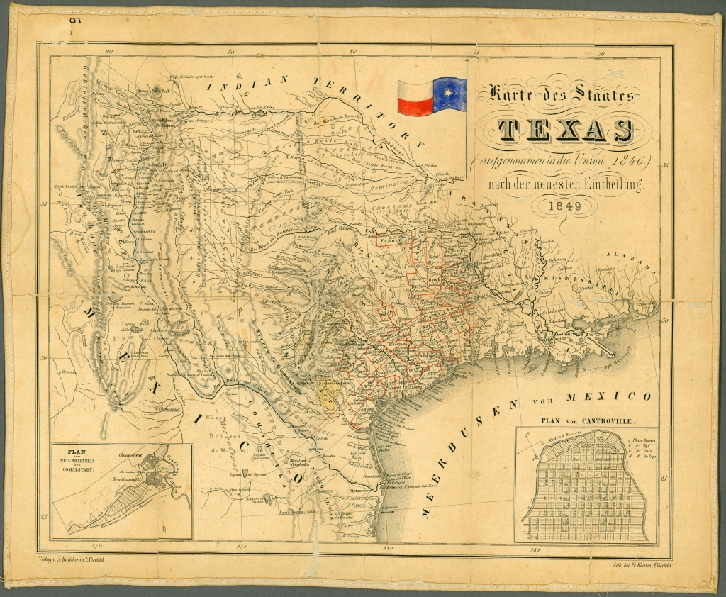 Texas Historical Maps - Perry-Castañeda Map Collection - Ut Library - Vintage Texas Map Prints