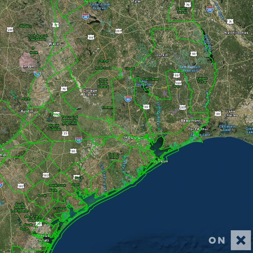 Texas Hunt Zone Open Wildlife - Texas National Forest Hunting Maps