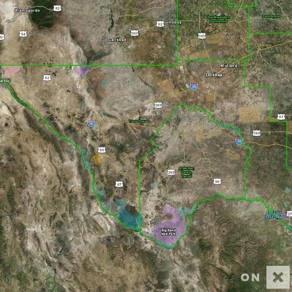Texas Hunt Zone Trans Pecos Mule Deer - Texas Deer Hunting Zones Map