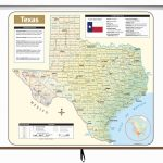 Texas Large Scale Shaded Relief Wall Map On Roller – Kappa Map Group   Large Texas Wall Map