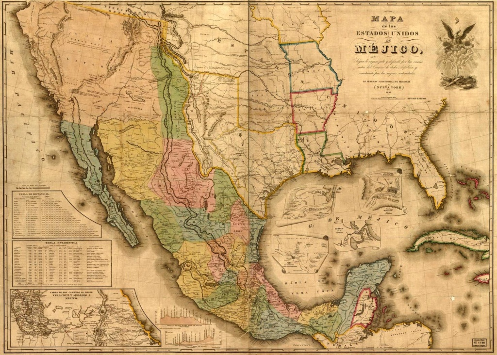 Texas Map During The Mexican War - Civil War In Texas Map