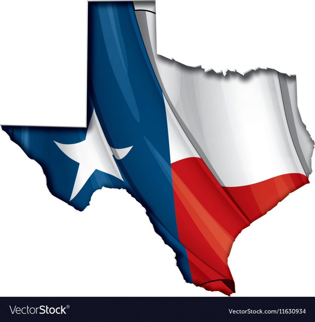 Texas Map Flag - Texas Flag Map