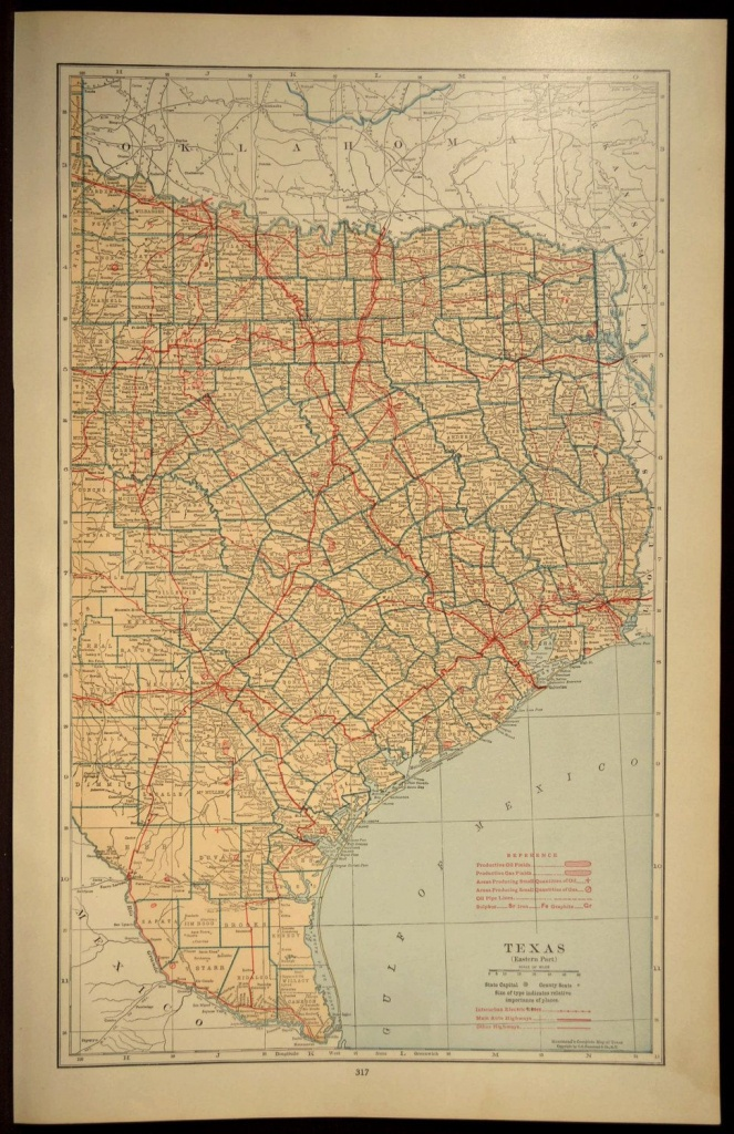 Texas Map Of Texas Wall Decor Art Road Map Large East Eastern - Large Texas Wall Map