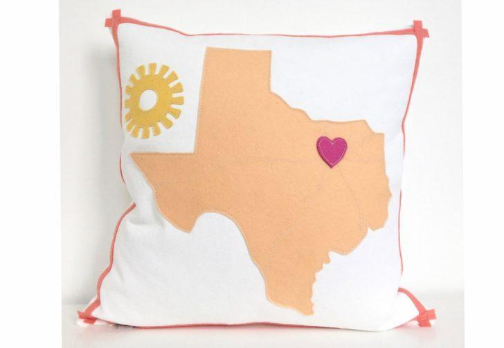 Texas Map Pillow