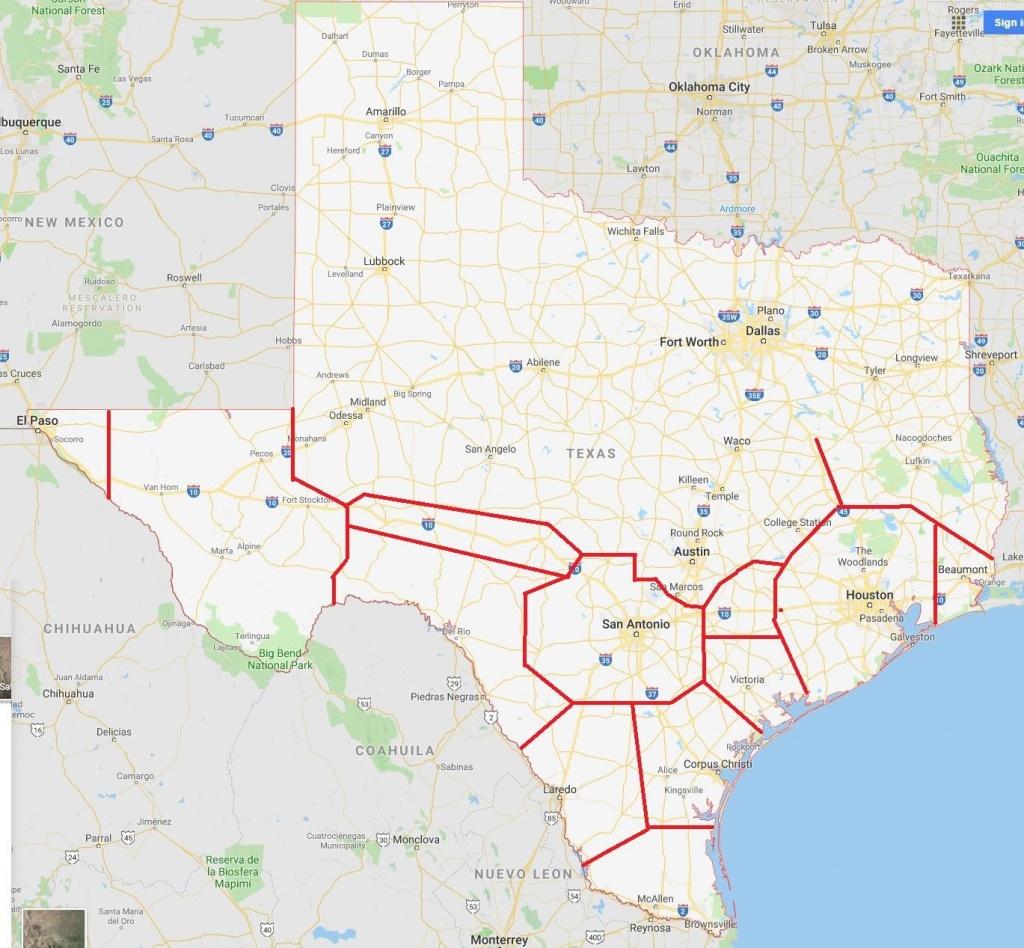 Texas Map : Texas - Alice Texas Map