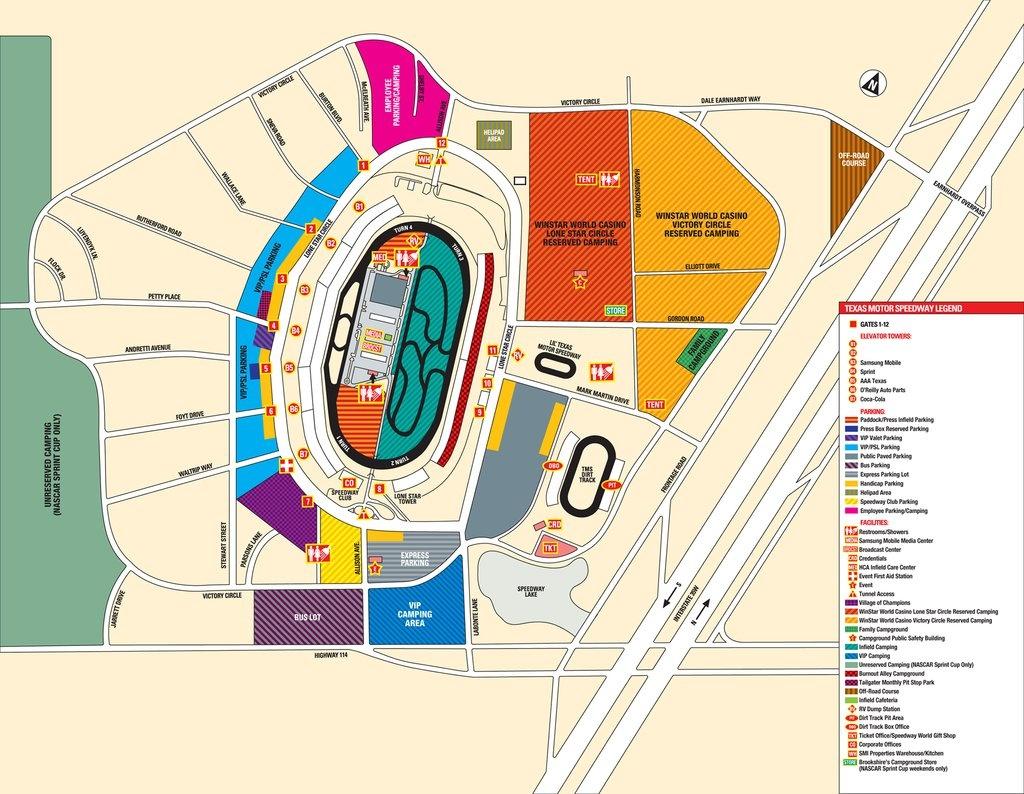 Texas Motor Speedway - Maplets - Texas Motor Speedway Map